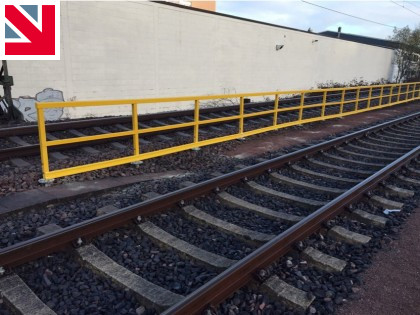 Handrails installed on Anchor Post Foundation System