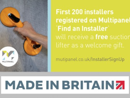 Multipanel helps customers to find an installer