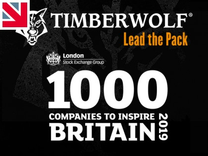 Timberwolf Recognised Among '1000 Companies to Inspire Britain'