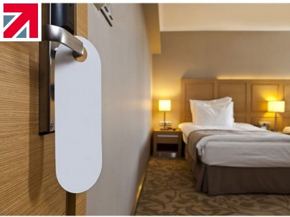 Biomaster antimicrobial door hangers take the guesswork out of hotel hygiene, from Hesketh Press