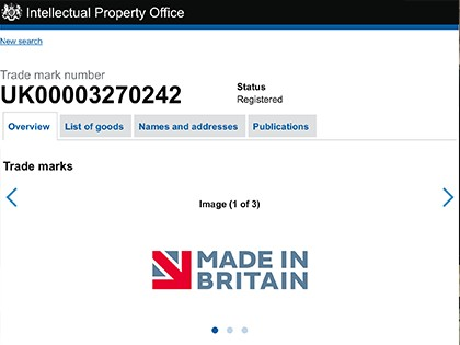 Officially Made in Britain