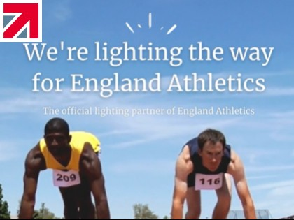 Midstream Lighting and England Athletics join forces