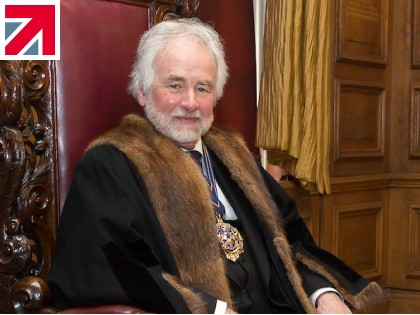 Owner of Chimo Holdings, Chris Hudson MBE, crowned the Master of The Worshipful Company of Pewterers