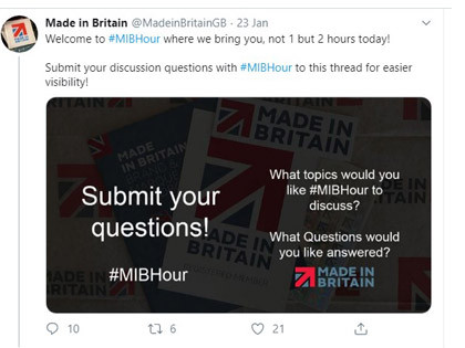 Should we call it the #MiB2Hours?