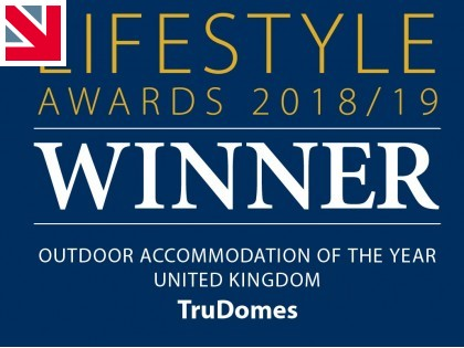 TruDomes wins Outdoor Accommodation of The Year in Luxury Travel Guide Lifestyle Awards