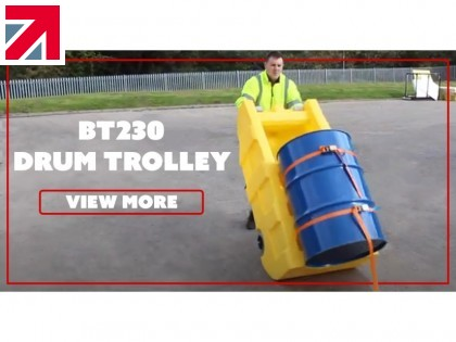 Help your customers avoid injuries, accidents, and spills with our BT230 Drum Trolley