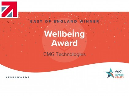 CMG Technologies wins 'Wellbeing Award' at 2020 FSB Awards