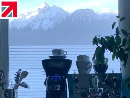 British coffee machines in the Austrian Alps