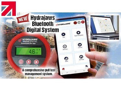 Hydrajaws Launch New & Improved Digital Bluetooth System to Record Pull Testing Results