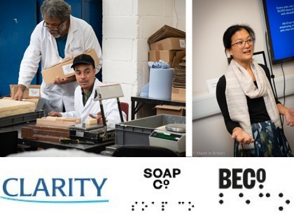 Made in Britain workshop at Clarity soap factory