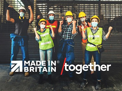 Made in Britain pledges support for the /together campaign
