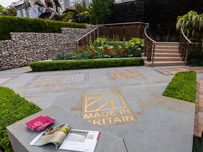 Made in Britain-themed garden display scoops five stars at Chelsea Flower Show