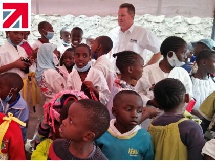 Audax® delivers large bundle of clothing and toys to Kenyan children's home from LDFA Belgium