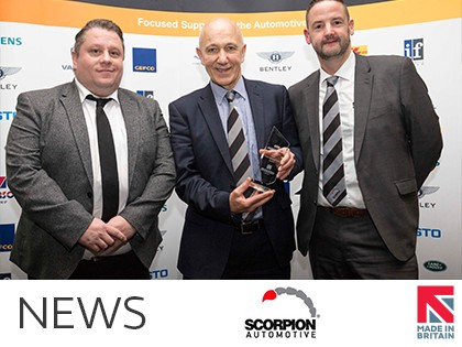 Scorpion Automotive Wins NAA International Trade Award